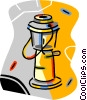 Vector Clipart illustration  of a propane lamp