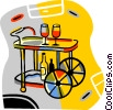 Vector Clip Art picture  of a drink cart