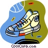 Vector Clipart image  of a basketball shoe