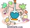 wine decanter Vector Clip Art graphic