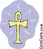 Vector Clip Art graphic  of a religious symbol of the French