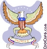Vector Clip Art image  of an American crest