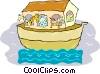 Vector Clipart image  of a Noah's ark