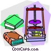 book binding press Vector Clipart graphic