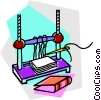 Vector Clipart illustration  of a book binding process