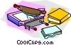 book binding process Vector Clip Art image