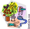 flower shop supplies Vector Clipart illustration