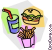 Vector Clip Art image  of a hamburger