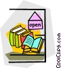display window Vector Clipart graphic