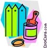paint can and brush Vector Clipart picture