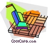 Vector Clip Art graphic  of a hardwood floor buffer