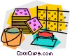 Vector Clip Art image  of a ceramic tiles