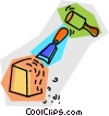 chisel and rubber mallet Vector Clipart picture