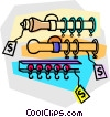 Vector Clipart picture  of a curtain rod