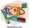 Vector Clipart illustration  of a knives and sharpeners