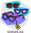 Vector Clip Art graphic  of a glasses on sale