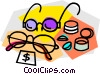 glasses on sale Vector Clipart image