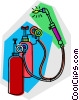 acetylene torch Vector Clip Art graphic