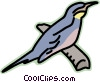Vector Clipart graphic  of a bird on a branch