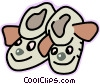 Vector Clipart picture  of a slipper