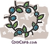 Vector Clip Art graphic  of a wreaths