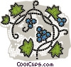 Vector Clipart graphic  of a grape vine