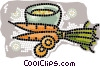 Vector Clip Art image  of a bowl of soup