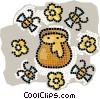 Vector Clip Art picture  of a honey pot