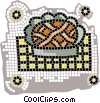 Vector Clip Art graphic  of an apple pie