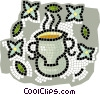 Vector Clipart image  of a tea cup