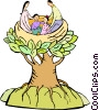 Vector Clipart illustration  of a Family nest