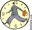 Vector Clip Art graphic  of a businessman clock