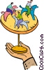merry-go-round Vector Clipart illustration