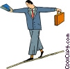 tight rope walker Vector Clip Art picture