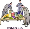 Vector Clip Art image  of an architects and city planers