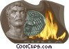 Vector Clipart picture  of a Historical people Sulla
