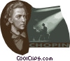 Frederic Chopin 1810 - 1849 Vector Clip Art graphic
