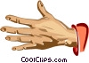 Vector Clip Art graphic  of a hand