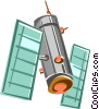 Vector Clipart image  of a satellite