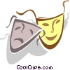 Vector Clipart graphic  of a drama mask