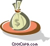 money bag Vector Clipart image