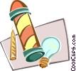 light bulb, barbers pole Vector Clipart illustration