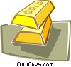 Vector Clipart illustration  of a gold bar