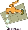leaking faucet Vector Clipart picture