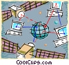 Vector Clipart image  of a satellite communications