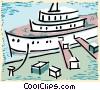 Vector Clipart illustration  of a ocean liner