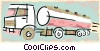 Vector Clipart graphic  of a transport trucks