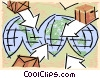 Vector Clip Art picture  of a globes