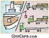 Vector Clipart graphic  of a ship