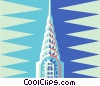 Vector Clipart picture  of a Chrysler building